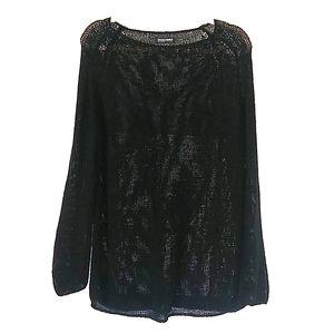 American Apparel black knit swim suit cover tunic